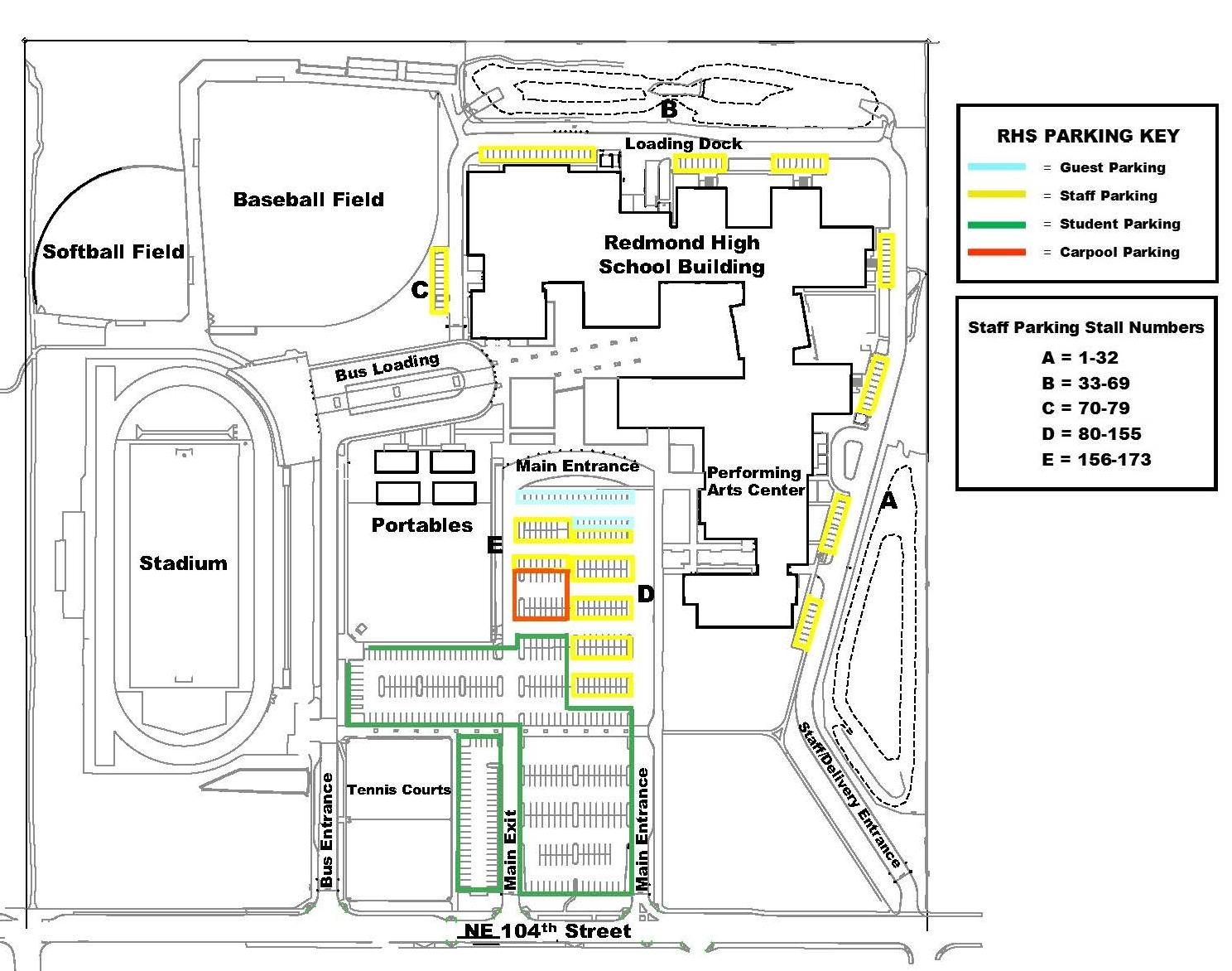 Parking Off Campus Redmond High School